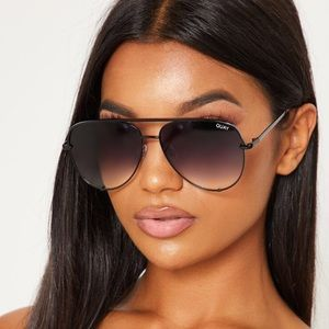 Quay Australia Accessories - Desi Perkins Quay High Key Sunglasses Black Fade